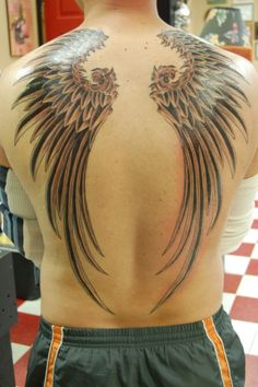 Wings for the back to look cool   #tattoo #tattoos #ink