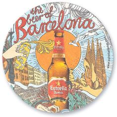 Estrella Damm is a Spanish Catalan pilsener. It has been brewed in Barcelona since 1876 and is the flagship beer of S.A. Damm, a prominent Barcelona brewery.