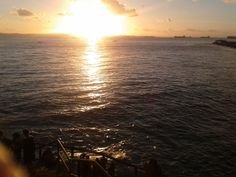 Pôr-do-Sol no píer do Solar do Unhão, ao lado do MAM. 4 de agosto de 2012.