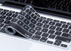 """Chevron Series Aqua N Black Silicone Keyboard Cover for Macbook Air 13/"""" A1466"""
