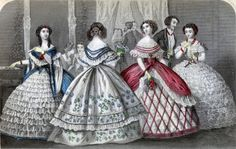 """Steel Fashion Plate: December 1859, """"Godey's Lady Book."""""""