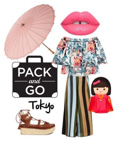 """Happy Tokyo"" by stefania-fornoni ❤ liked on Polyvore featuring Circus Hotel, Stuart Weitzman, Elizabeth and James, Cultural Intrigue, Lime Crime, Kate Spade, tokyo and Packandgo"