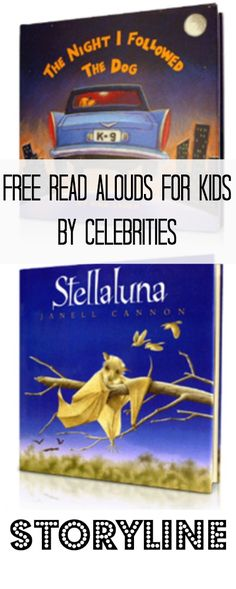 Kids Books ~ FREE Read Alouds for Kids by Celebrities!