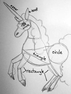 How to draw a Unicorn...  Who really needs to know how to draw a unicorn?! It's just a horse with a horn