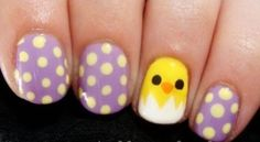 Easy Easter Nails  | See more nail designs at http://www.nailsss.com/acrylic-nails-ideas/3/