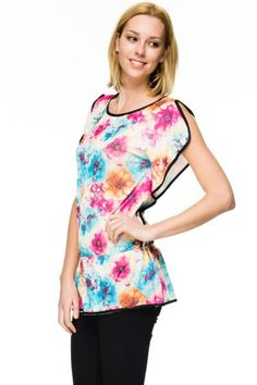 Crystal Embellished Floral Tunic Top: Just For 5Pounds