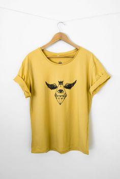 #tshirt  #diamanteasas  TSHIRT ESTAMPADA EM SILK      $71
