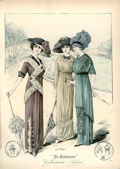 """artschoolglasses: """" De Gracieuse 1912 """""""