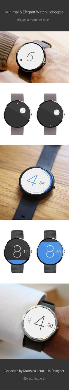 Minimal & Elegant Watch Faces Concept on Behance