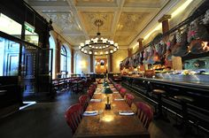 Explore all of Jamie's restaurants here Jamies Restaurant, Rustic Restaurant, Jamie Oliver, Restaurants, Conference Room, Spaces, Explore, Drinks, Table