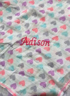 Personalized Baby Swaddle Blanket Muslin