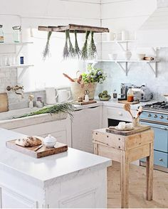 """5,252 Likes, 70 Comments - Dreamy Whites Lifestyle (@dreamywhiteslifestyle) on Instagram: """"I found this French butcher block a few years ago in France. To lighten it I applied @wocausa…"""""""