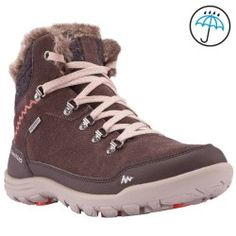 Botas Travesía Arpenaz 500 mid Warm Impermeable Mujer Marrón Impermeable  Mujer 86fb26a79c9e