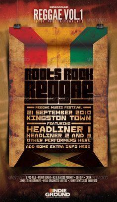Reggae Poster & Flyer  #GraphicRiver