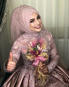 It is very nice to start the day with my beautiful engagement bride. Hijabi Wedding, Muslimah Wedding Dress, Hijab Style Dress, Hijab Wedding Dresses, Dress Wedding, Muslim Evening Dresses, Hijab Evening Dress, Lace Evening Gowns, Muslim Brides