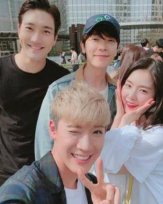 Siwon x Donghae x Ten x Irene Korean Best Friends, Boy And Girl Best Friends, K Pop, Boy And Girl Friendship, Super Junior Donghae, Choi Siwon, Lee Donghae, Kpop Memes, Nct Ten