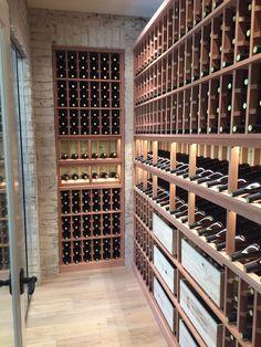 Wine Glass Wine Cellar, Home Wine Cellars, Wine Cellar Design, Caves, Modern Landscape Lighting, Wine Cellar Basement, Basement Inspiration, Wine Rack Wall, Wine Cabinets