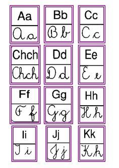 Abecedario Letras cursivas e imprenta