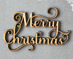 Merry Christmas Ornament, Secret Santa Gift, Christmas Tree Decor, Laser Cut Ornament, Wreath Accessories, Wood Ornament, Gift Tags