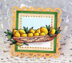 From Sharon Harnist via www.PaperFections.com Twinchie Lemon Magnet