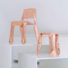 Plopp by Oskar Zieta / #copper copper plopp: https://shop.zieta.pl/pl,c,29,zieta_limited.html copper chippensteel: https://shop.zieta.pl/pl,p,29,3,krzeslo_chippensteel.html
