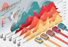 Buy Isometric Infographic Histogram Elements with Cars by aurielaki on GraphicRiver. Detailed illustration of a Isometric Infographic Histogram Set Elements with car This illustration is saved in . Infographic Examples, Infographic Templates, Information Design, Information Graphics, 3d Data Visualization, Page Layout Design, Powerpoint Design Templates, How To Create Infographics, Infographics Design