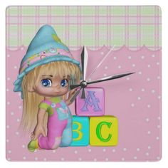 Nursery Or Girls Room Cutie Pie Clock