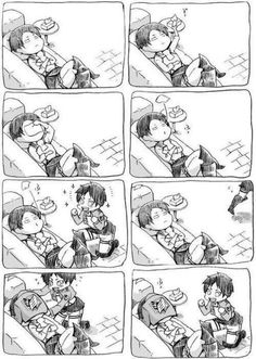 Eren, logic doesn't work like that-also, Levi's kind of logic doesn't work like that either. He's littering a tissue :P