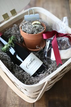 A gorgeous gift basket - great gift for the hostess or Christmas!