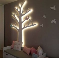50 great proposals for room decoration for babies - Kinderzimmer - Baby Room Ideas Baby Bedroom, Baby Room Decor, Nursery Room, Girl Room, Girls Bedroom, Bedroom Decor, Wall Decor, Diy Wall, Bedrooms