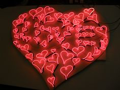 62 Hearts spells Love by artist Chris Bracey