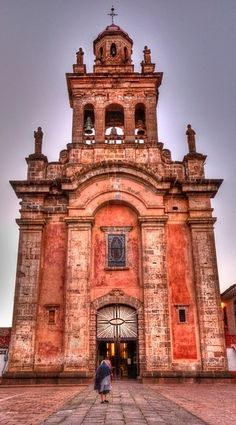 Patzcuaro, Michoacan, México. THe native materials of mexico are what give each of the churches their unique feel. The different cities with their milenial history and craft traditions also help make a voyage from city to city unique.