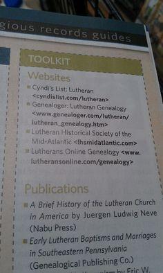 Lutheran genealogy websites
