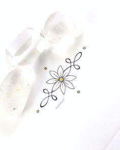 40 Super Ideas For Tattoo Sunflower Butterfly Unalome Tattoo, Sternum Tattoo, Wrist Tattoos, Foot Tattoos, Flower Tattoos, Body Art Tattoos, Tattoo Ink, Tatoos, Little Tattoos