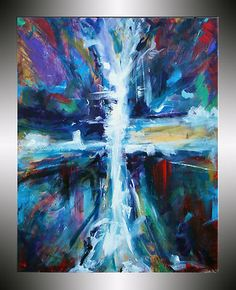 Cross painting, original painting on canvas. By Heather Day