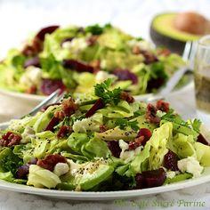 The Café Sucré Farine: Avocado & Roasted Beet Salad w/ Goat Cheese, Rosemary-Honey Roasted Walnuts & Lemon Poppy Seed Vinaigrette