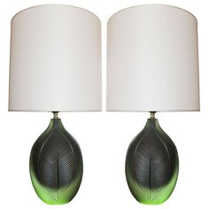 Italian Solid Glass Lamps | From a unique collection of antique and modern table lamps at https://www.1stdibs.com/furniture/lighting/table-lamps/