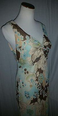 Merona Poly Floral Lined Dress 8 Free Shipping