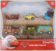 Disney Parks Collectible Figures Cake Toppers Pixar Cars McQueen Play Set New