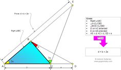 Geometry Problem 913: Right Triangle, Double Angle, Triple Angle, Metric Relations. Level: High School, College, Mathematics Education