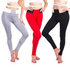 High Waist Women Yoga Leggings Fitness Pants Gym Sportswear Red Gray Black Soild Color Tight Compression Sport Trouser Plus Size #Affiliate