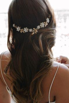 AVALON gold floral crown | TANIA MARAS
