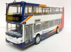 BritBus 1:76 Scania Omnidekka Diecast Model Bus ES-13A This Scania Omnidekka Diecast Model Bus features working wheels. It is made by BritBus and is 1:76 scale (approx. 12cm / 4.7in long). Route: Chesterfield via Halfway Tram Stop 70 #BritBus #ModelBus #Scania #MiniModelBuses