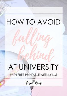 How to Avoid Falling Behind at University Falling behind in classes can be a serious danger to your academic success. Avoid the stress of trying to play catch up by using these techniques. - College Scholarships Tips College Success, College Notes, Academic Success, College Hacks, Education College, College Mom, College Classes, University Tips, University Survival