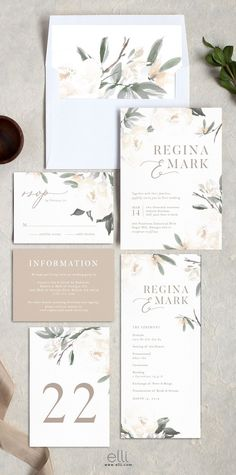 Elegant Garden wedding invitation suite with stunning neutral florals. Elegant Garden wedding invitation suite with stunning neutral florals. Elegant Wedding Invitations, Garden Wedding Invitations, Wedding Invitation Inspiration, Floral Invitation, Wedding Invitation Design, Wedding Stationary, Weding Invitation Ideas, Floral Wedding Stationery, Wedding Envelopes
