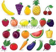 Dibujos Animados DE Frutas Y Verduras imágenes prediseñadas (clip ...