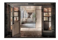 "Livingwall& photo wallpaper ""Abandoned villa, the hallway"" 470283 Abandoned villa, the hallway. Photo wallpaper / non-woven wallpaper XXLwallpaper Motif: Portal, Villa, Painted Doors, Abandoned Buildings, Photo Wallpaper, Wall Spaces, Pattern Wallpaper, Painting Prints, Street Art"