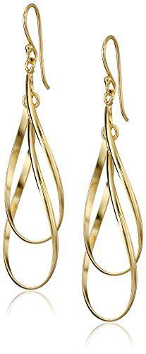Gold Plated Sterling Silver Double Elongated Oval Twist French Wire Drop Earrings Amazon Collection http://www.amazon.com/dp/B013URKHE8/ref=cm_sw_r_pi_dp_3LAVwb0774ZPZ