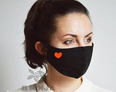Funny Face Mask, Diy Face Mask, Animal Noses, Facial, Heart Face, Protective Mask, Mouth Mask, Ear Loop, Cat Design