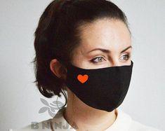 Funny Face Mask, Diy Face Mask, Face Masks, Animal Noses, Facial, Heart Face, Face Design, Mouth Mask, Fashion Face Mask